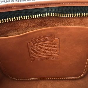 ❤️ Large COACH Zippered Leather Portfolio Bag ❤️